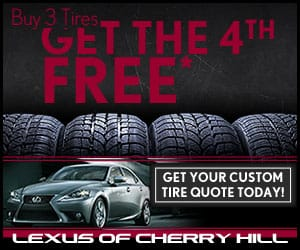 Marketing Campaign. Lexus. Tires. Medium Rectangle.