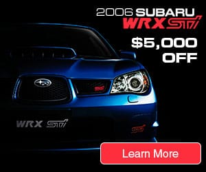 Subaru WRX STI Campaign. Medium Rectangle.